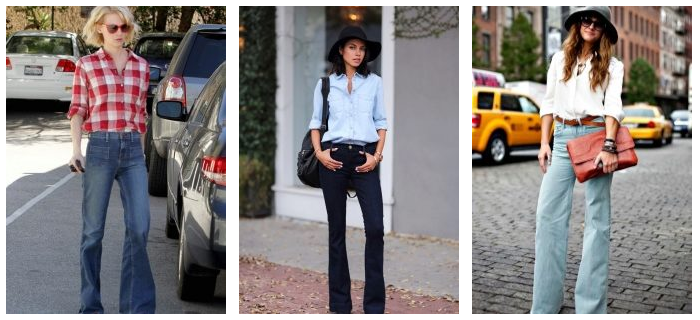 ac3eecb638 For those who are interested in what to wear flared jeans 2017 trends